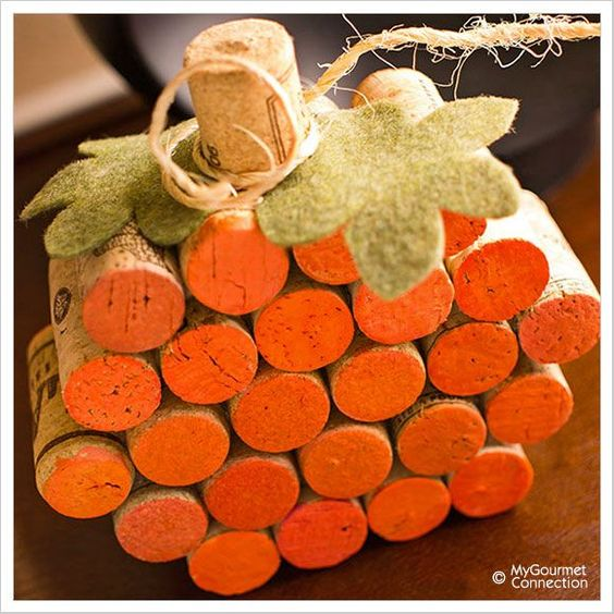exceptional Fall Crafts For Seniors Part - 11: Wine Cork Pumpkin...these are the BEST Fall Craft Ideas u0026 DIY Home