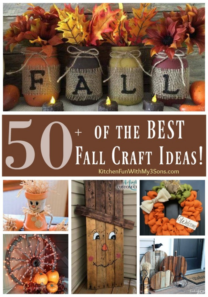 Over 50 of the best diy fall craft ideas kitchen fun for Art and craft ideas for decoration