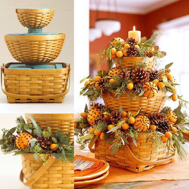 diy bountiful fall basketsso simple pretty these are the best - Christmas Basket Decoration Ideas