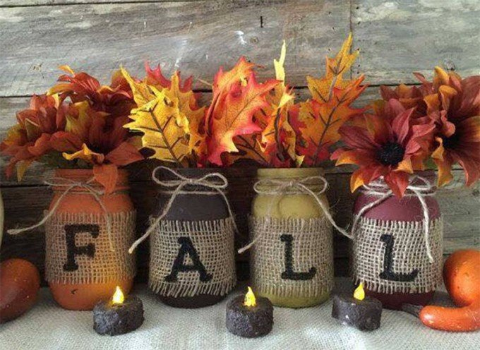 incredible Fall Crafts For Seniors Part - 6: Fall Mason Jars...these are the BEST Fall Craft Ideas u0026 DIY Home