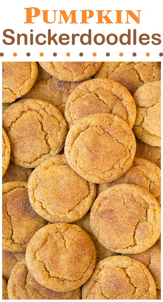 Pumpkin Snickerdoodles...these are the BEST Fall Dessert Recipes!
