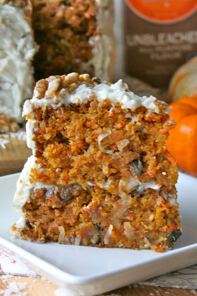 Pumpkin Carrot Cake....these are the BEST Fall Dessert Recipes!