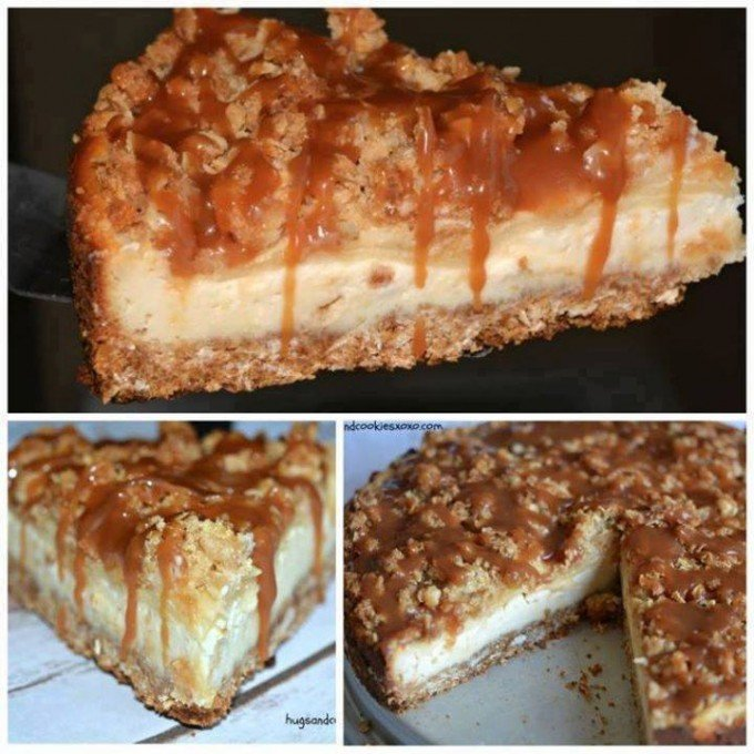Caramel Apple Crisp Cheesecake...these are the BEST Fall Desserts!