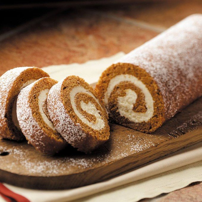Top Rated Pumpkin Cake Roll...these are the BEST Fall Dessert Recipes!
