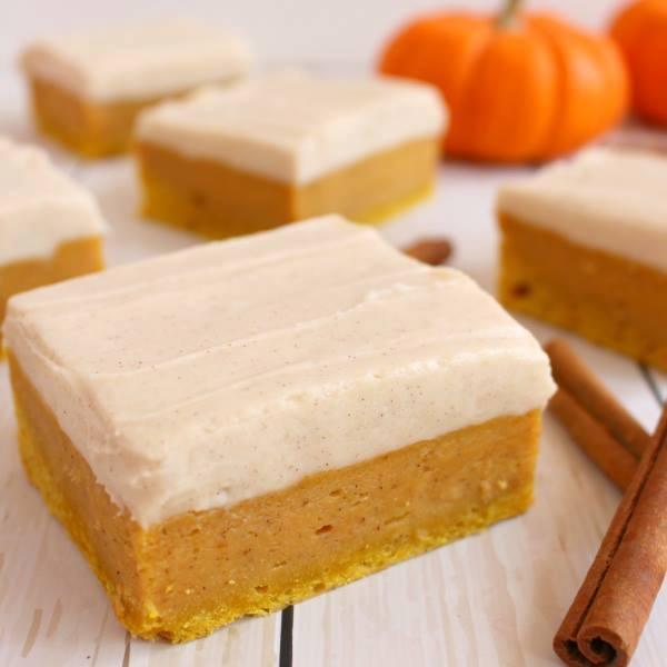 Pumpkin Cake Bars With Cream Cheese