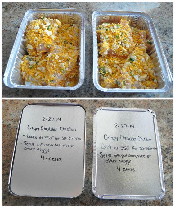 Crispy Cheddar Chicken Freezer Meal...100's of the BEST Freezer Meals!