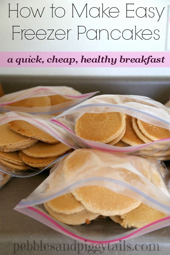 Homemade Freezer Pancakes for a super easy Breakfast....100's of the BEST Freezer Meals!