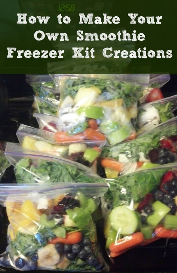 Homemade Smoothie Freezer Bags....100's of the BEST Freezer Meals!