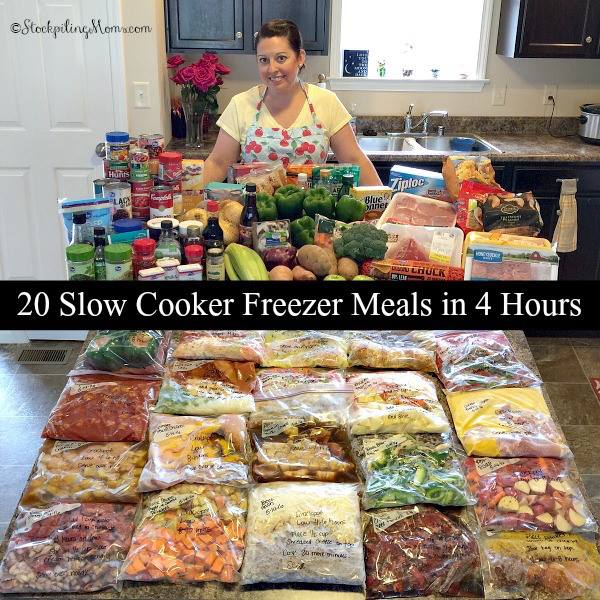 20 Slow-Cooker Meals in 4 Hours...100's of the BEST Freezer Meals!