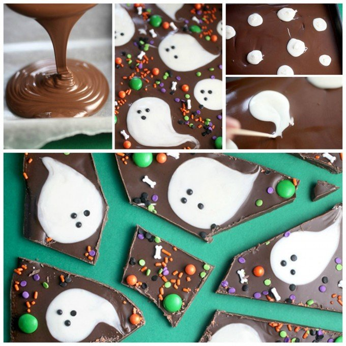 Chocolate Boo Bark...these are the BEST Halloween Treats & Dessert Ideas for