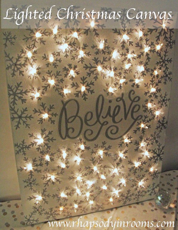 DIY Christmas Lighted Canvas