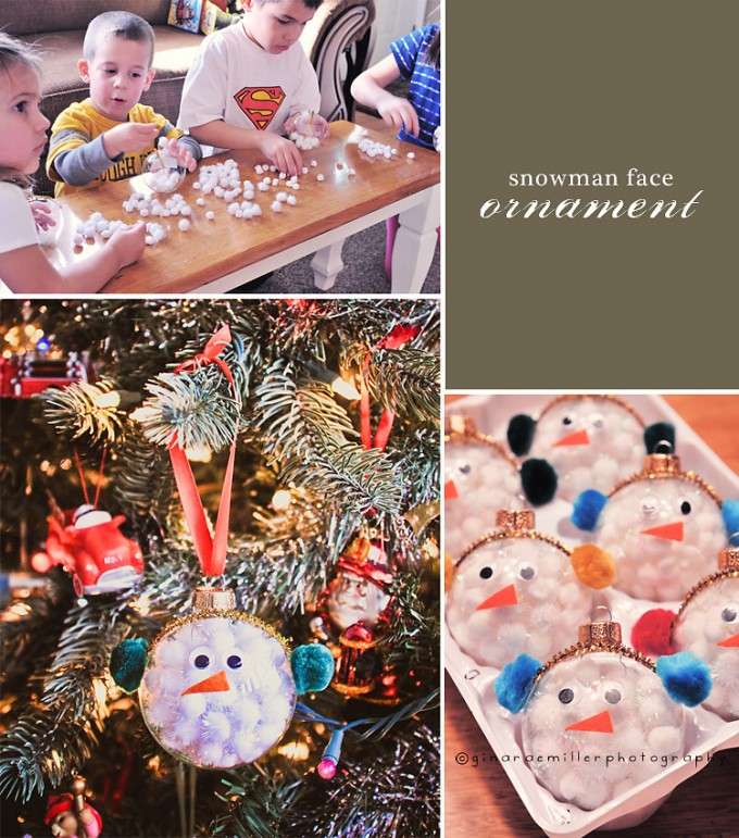 easy snowman face ornamentsthese are the best homemade christmas ornament ideas