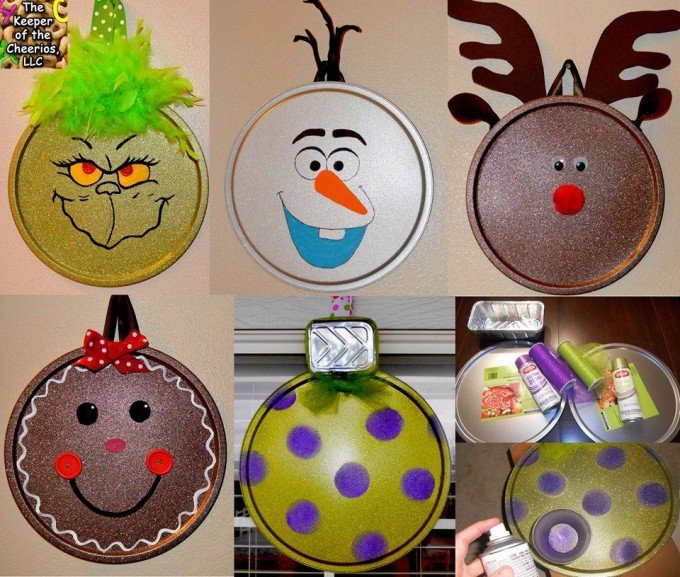 Christmas Decorations Craft Ideas Part - 35: Pizza Pan Christmas Ornament Craft...these Are The BEST DIY Homemade Christmas  Ornaments