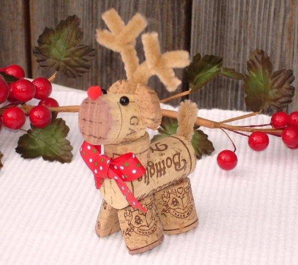 Charming Homemade Christmas Craft Ideas Part - 11: Reindeer Wine Cork Ornament....these Are The BEST Homemade Christmas  Ornament Ideas