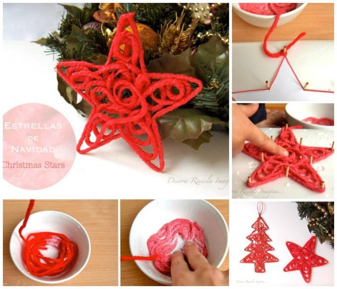 Christmas decoration yarn for Best handmade christmas ornaments