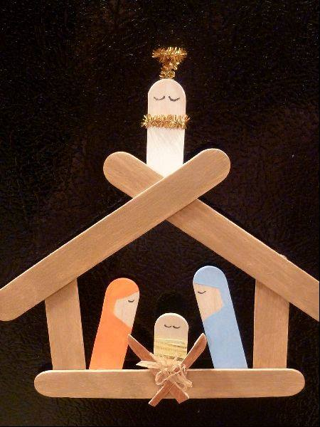 Nativity Scene Popsicle Craft Ornament...these are the BEST Homemade Christmas Ornaments!