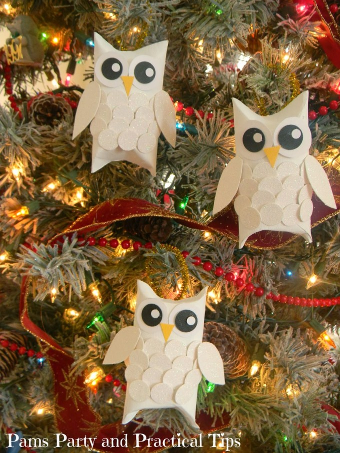 snow owl ornaments made with toilet paper rollsthese are the best christmas