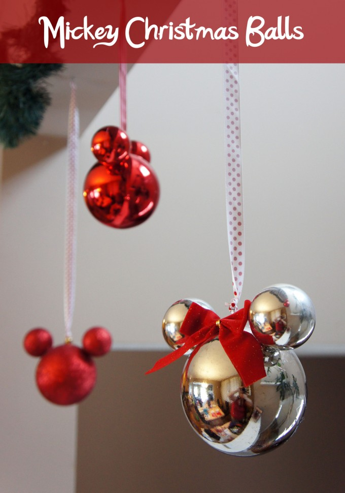 Mickey Mouse Ornaments...these are the BEST Homemade Christmas Ornaments! - 40+ Homemade Christmas Ornaments - Kitchen Fun With My 3 Sons