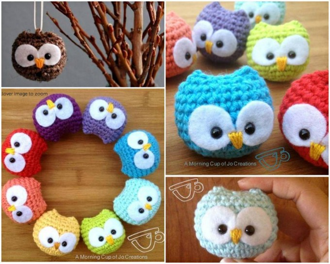 crochet owl baby ornamentsthese are the best homemade christmas ornament ideas - Cute Homemade Christmas Decorations