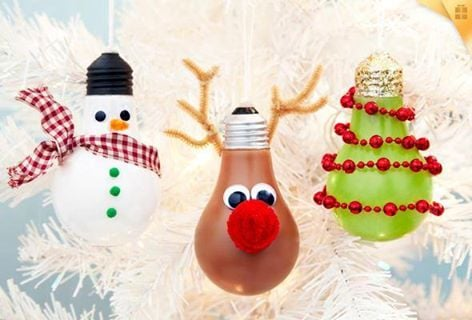 diy christmas lightbulb ornamentsthese are the best homemade ornament ideas - Cool Christmas Decoration Ideas