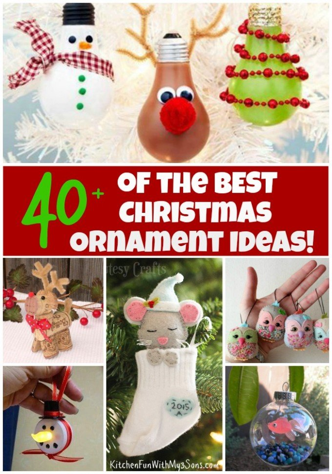 over 40 of the beset christmas ornament ideas - Homemade Christmas Decorations Ideas