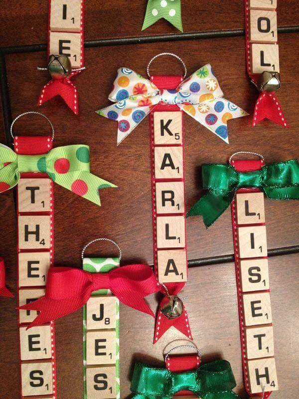 scrabble ornamentsthese are the best christmas ornament ideas - Kids Christmas Ornaments