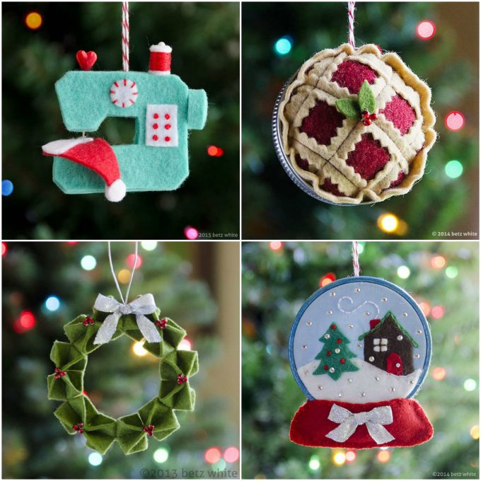 Ornaments made out of Felt....these are the BEST Christmas Ornament Ideas!