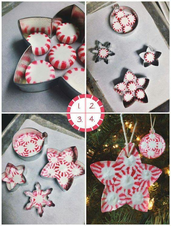 peppermint candy ornamentsthese are the best christmas ornament ideas