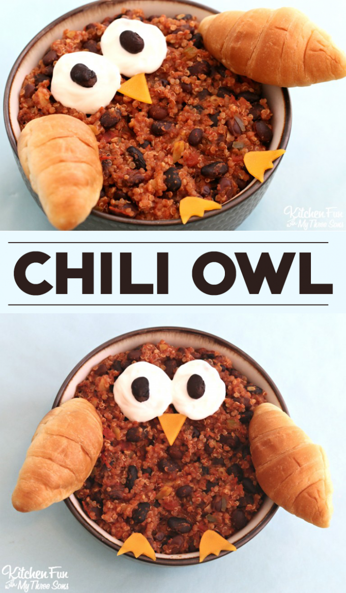 Chili Owl...a fun and easy dinner that the kids will love!