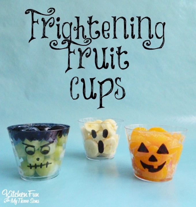 Halloween Frightening Fruit Cups for Kids!