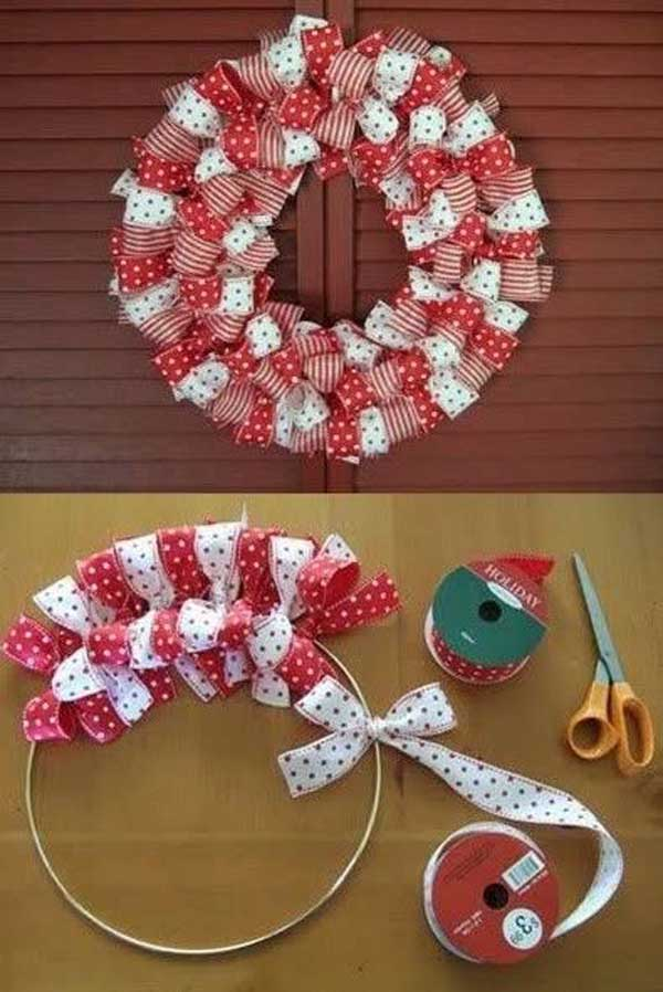 How To Make A Christmas Ribbon Wreath....these Are The BEST DIY