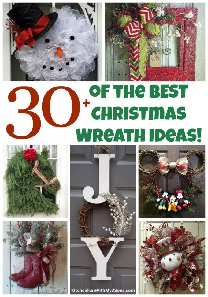 Over 30 of the BEST Christmas Wreath Ideas!