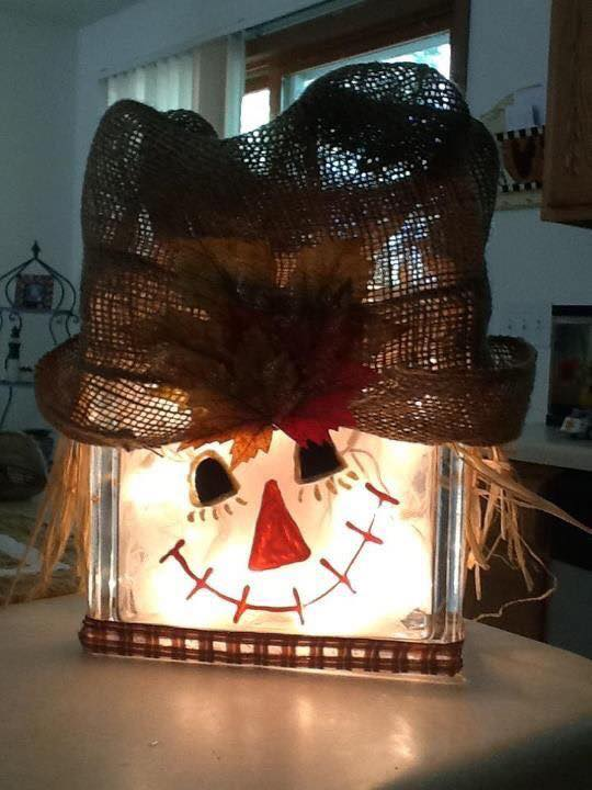 DIY Scarecrow Light Box...these are the BEST Homemade Halloween Decorations & Craft Ideas!