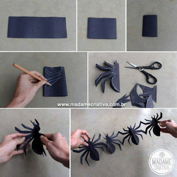 how to make spider garlandthese are the best homemade halloween decorations - Halloween Decoration Crafts