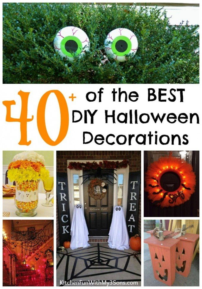 Over 40 of the BEST DIY Halloween Decorations u0026 Craft Ideas!  sc 1 st  Kitchen Fun With My 3 Sons : halloween decorations homemade ideas - www.pureclipart.com