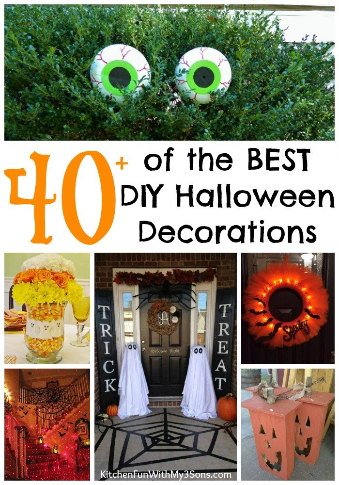 40 homemade halloween decorations kitchen fun with my 3 sons - Interesting diy halloween wreaths home ...