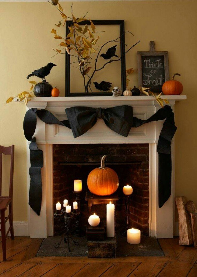 40 homemade halloween decorations kitchen fun with my. Black Bedroom Furniture Sets. Home Design Ideas