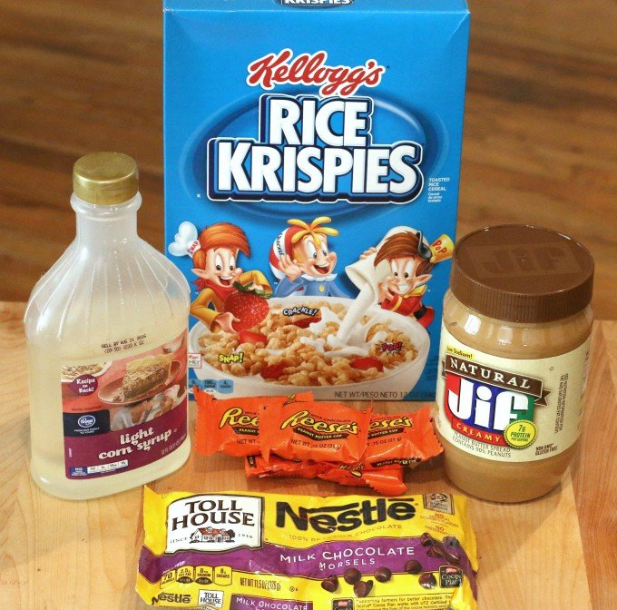 ... Cookies - No Bake Peanut Butter & Chocolate Rice Krispies Treats