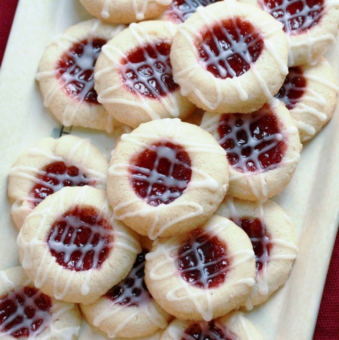 raspberry almond shortbread cookies - Best Christmas Cookies Recipes