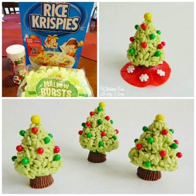 Christmas Rice Krispie Tree Treats