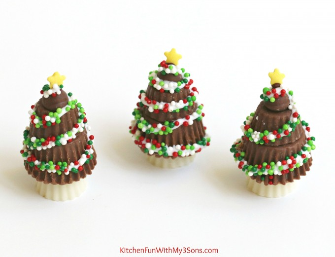 Peanut Butter Cup Christmas Trees - Kitchen Fun With My 3 Sons