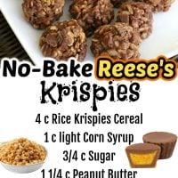 No Bake Krispie Reese's Cookies