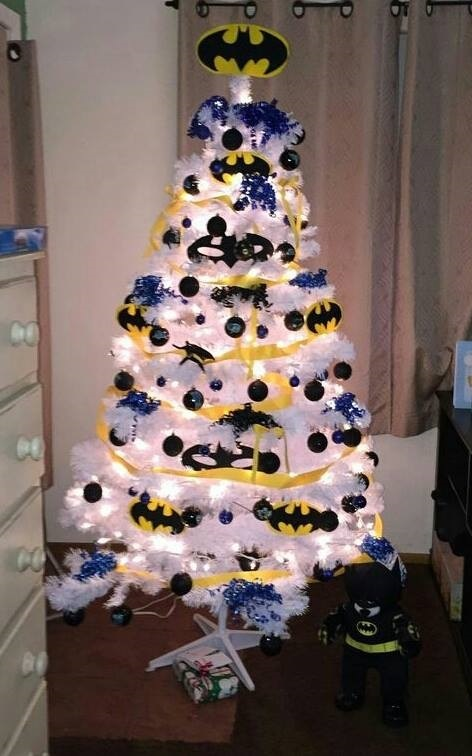 Batman Tree...these are the BEST Christmas Tree ideas!