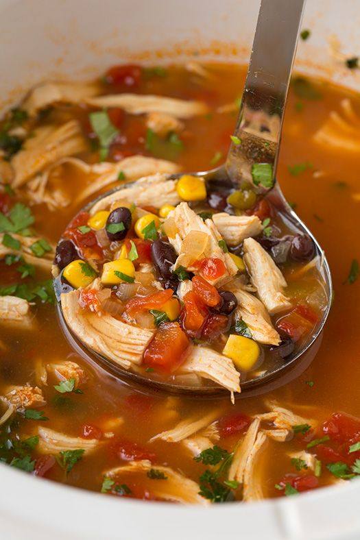 Chicken Tortilla Crock-Pot Soup...these are the BEST Comfort Food Recipes!