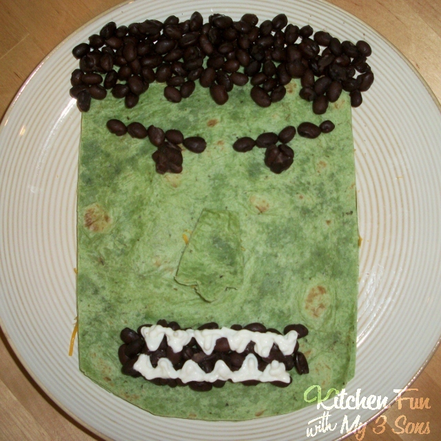 The Hulk Quesadilla Kids Dinner
