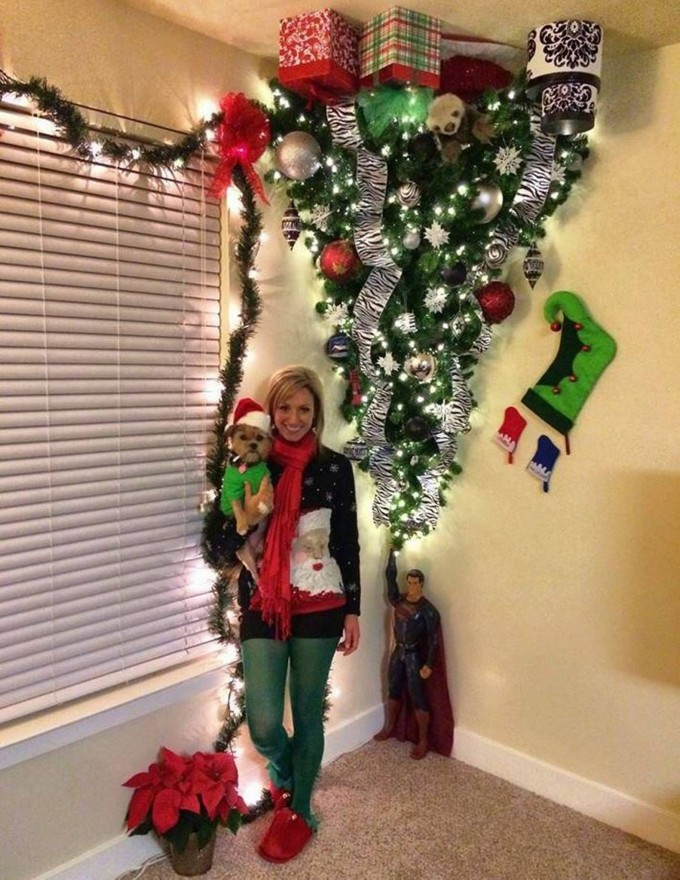 Upside Down Tree...these are the most Creative Christmas Trees!