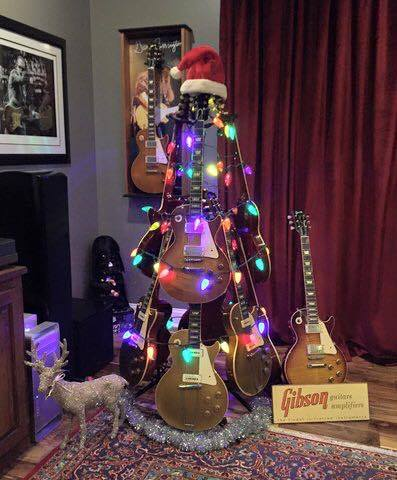 Guitar Tree...these are the most Creative Christmas Trees!