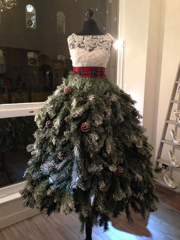 Christmas Tree Dress...these are the most Creative Christmas Trees!