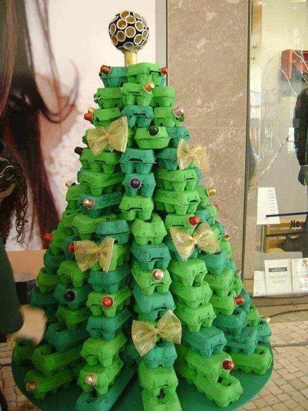 Egg Carton Tree....these are the most Creative Christmas Trees!
