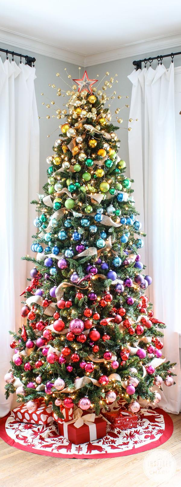 Rainbow Tree...these are the most Creative Christmas Trees